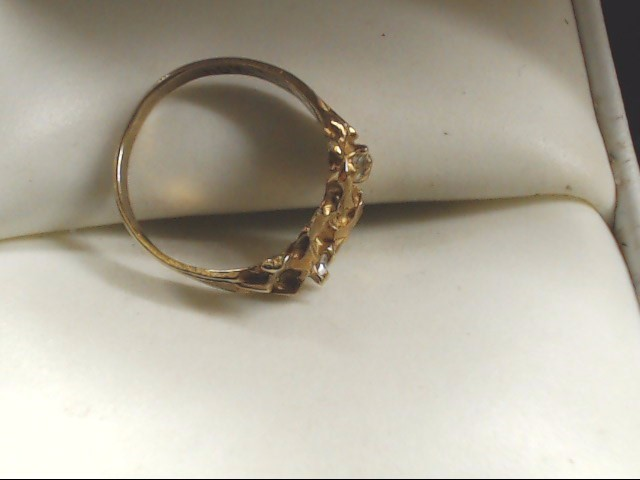 Lady's Diamond Fashion Ring 2 Diamonds .02 Carat T.W. 10K Yellow Gold 1.2g