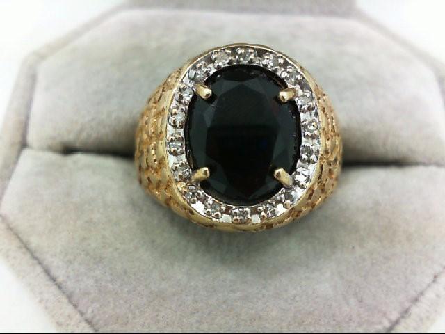 Gent's Diamond Cluster Ring 18 Diamonds 0.18 Carat T.W. 14K Yellow Gold 7.2g Siz