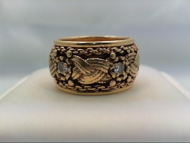 Lady's Diamond Wedding Band 5 Diamonds 0.5 Carat T.W. 14K Yellow Gold 9.8g Size: