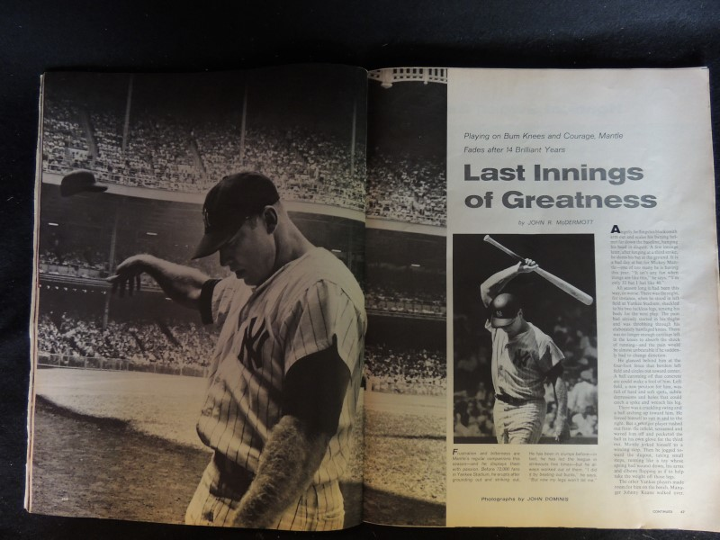 LIFE MAGAZINE VINTAGE BACK ISSUE MICKEY MANTLE AT 33 MANTLE'S MISERY JULY 30, 65