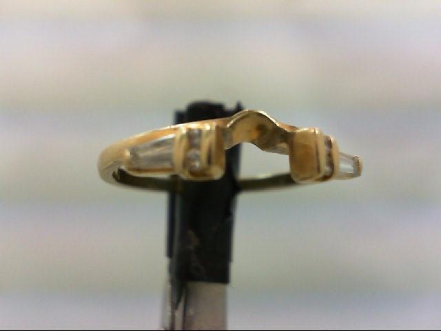 Lady's Gold-Diamond Ring Guard 6 Diamonds .14 Carat T.W. 14K Yellow Gold 2.6g Si