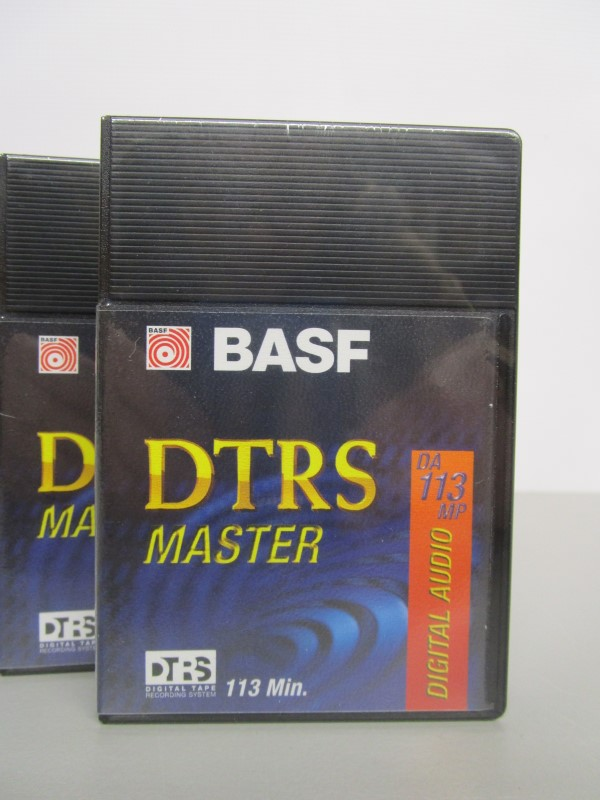 (5) BASF DTRS MASTER TAPE CASSETTES, 113 MINUTES, UNOPENED
