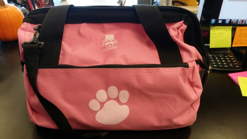 TOP PERFORMANCE PINK DOG GROOMING TOTE
