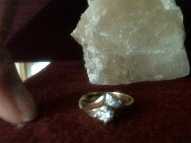 Lady's Diamond Wedding Set 7 Diamonds .10 Carat T.W. 14K Yellow Gold 2dwt
