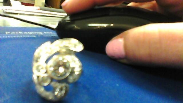 Lady's Diamond Cluster Ring 20 Diamonds 1.64 Carat T.W. 14K White Gold 5g