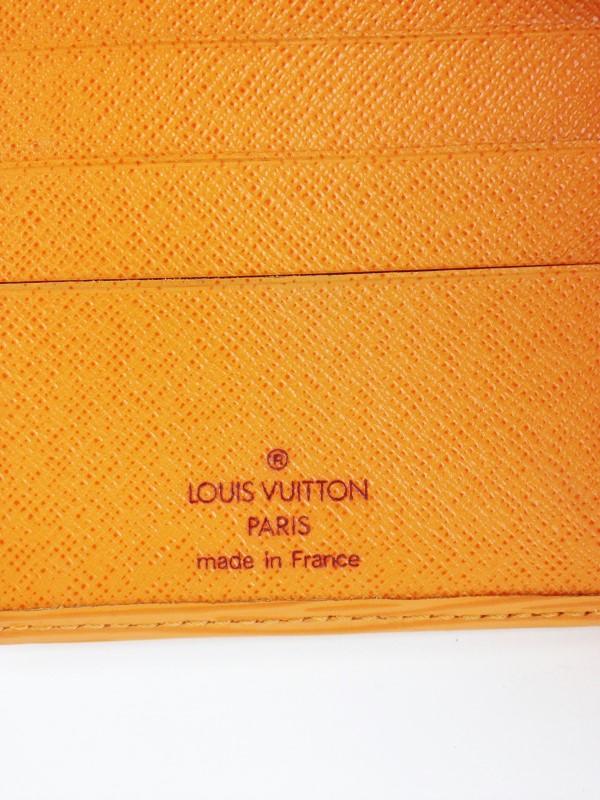 LOUIS VUITTON ORANGE EPI LEATHER PORTE BILLETS COMPACT WALLET w ORIGINAL BOX