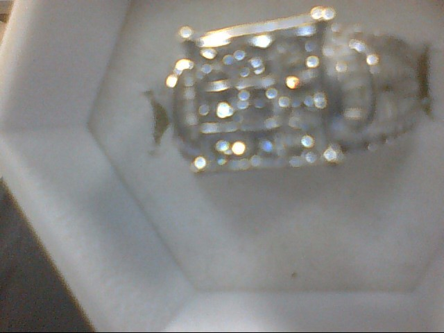 Lady's Diamond Cluster Ring 84 Diamonds 1.11 Carat T.W. 10K White Gold 5.8g