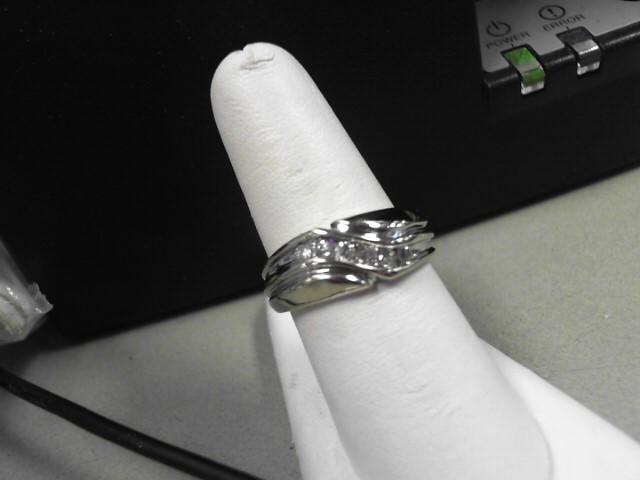 Gent's Gold-Diamond Wedding Band 6 Diamonds .24 Carat T.W. 14K White Gold 6.5g