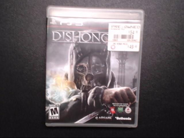 SONY Sony PlayStation 3 DISHONORED