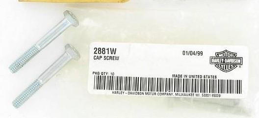 HARLEY DAVIDSON 2881W, HEX CAP SCREW