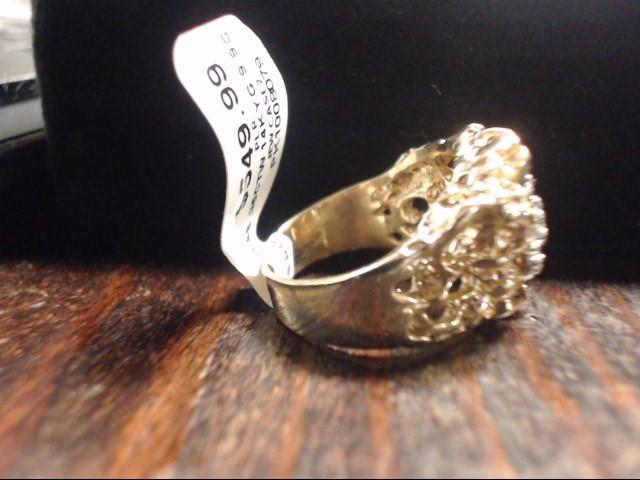 Gent's Diamond Cluster Ring 7 Diamonds .35 Carat T.W. 14K Yellow Gold 9.9g