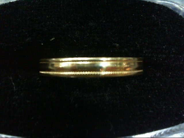 Lady's Gold Wedding Band 10K Yellow Gold 1.9g Size:9.5