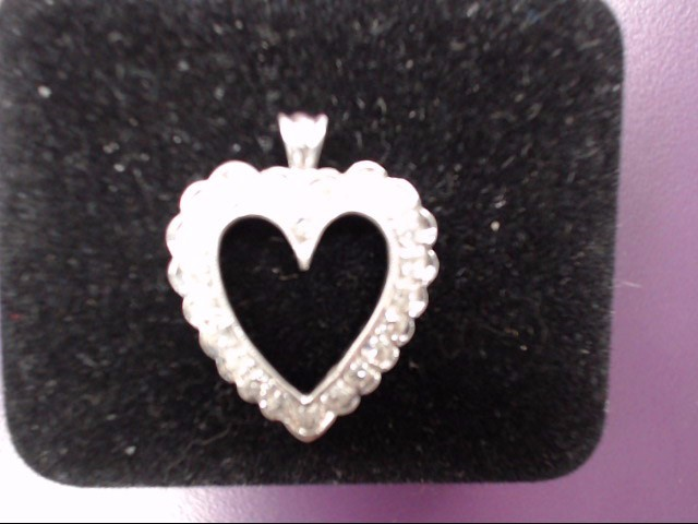 Gold-Multi-Diamond Pendant 22 Diamonds .22 Carat T.W. 14K White Gold 2.5g