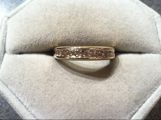 Lady's Diamond Wedding Band 11 Diamonds .22 Carat T.W. 10K Yellow Gold 2.5g