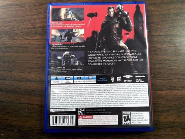 SONY Sony PlayStation 4 Game WOLFENSTEIN - PS4
