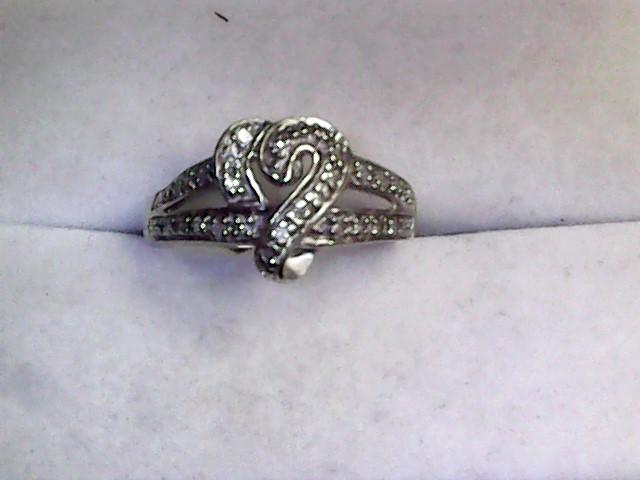 Lady's Diamond Fashion Ring 25 Diamonds .25 Carat T.W. 10K White Gold 2dwt
