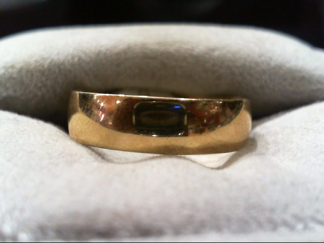 Gent's Gold Wedding Band 10K Yellow Gold 2.6g Size:8