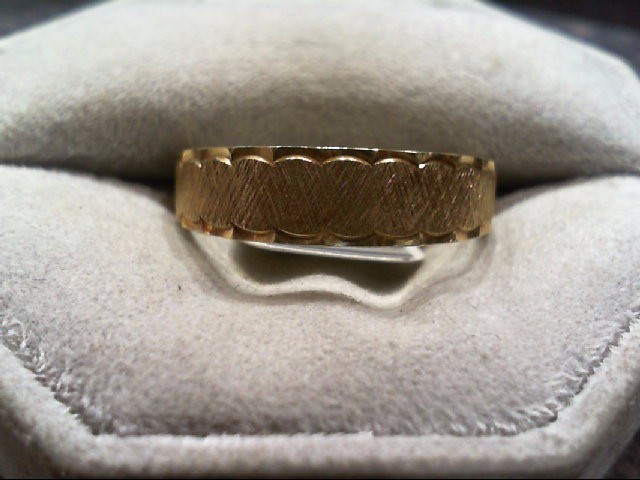 Gent's Gold Wedding Band 14K Yellow Gold 3.8g Size:10.8