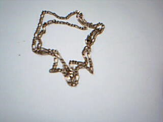 """22"""" Gold Figaro Chain 14K Yellow Gold 6.4g"""