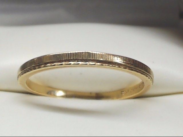 Lady's Gold Wedding Band 14K Yellow Gold 1.5g Size:7