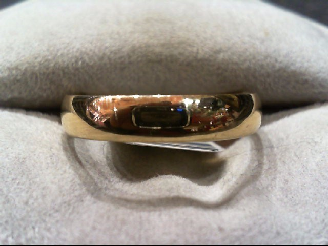 Gent's Gold Wedding Band 14K Yellow Gold 3.5g Size:10.3