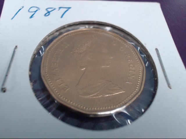 CANADIAN 1.00 1987 DOLLAR ELIZABETH II D G REGINA