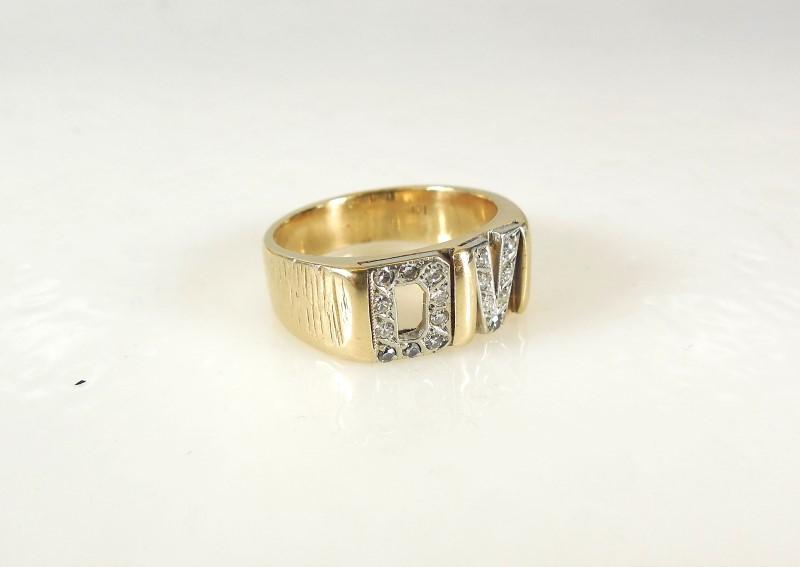 Gent's Diamond Fashion Ring 17 Diamonds .17 Carat T.W. 10K Yellow Gold 5.9g