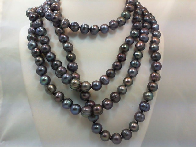 "52"" 6.5MM BLACK PEARL STRAND"