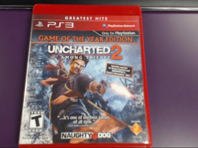SONY PS3 UNCHARTED 2 AMONG THIEVES GREATEST HITS