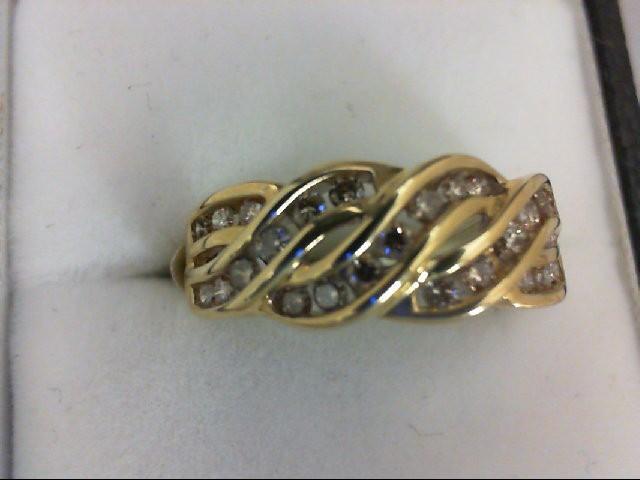 Lady's Diamond Cluster Ring 25 Diamonds 0.75 Carat T.W. 14K Yellow Gold 3.2g