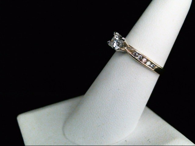 Lady's Diamond Engagement Ring 9 Diamonds .52 Carat T.W. 14K Yellow Gold 3g