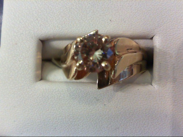 Lady's Diamond Engagement Ring .95 CT. 14K Yellow Gold 4.6g