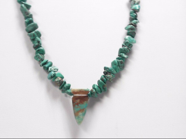 Turquoise Sterling Silver 17.5g Necklace