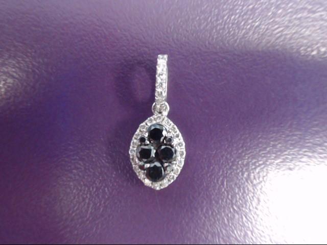 Gold-Multi-Diamond Pendant 33 Diamonds .45 Carat T.W. 14K White Gold 0.8g