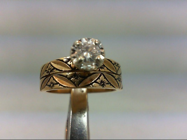 Lady's Diamond Wedding Set .25 CT. 14K Yellow Gold 4.8g