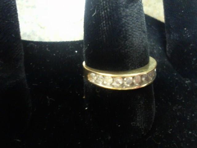 Lady's Gold-Diamond Anniversary Ring 10 Diamonds .50 Carat T.W. 10K Yellow Gold