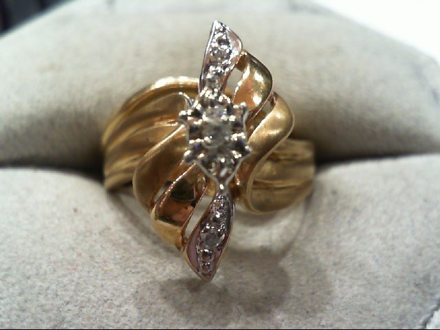 Lady's Diamond Wedding Set 5 Diamonds .10 Carat T.W. 10K Yellow Gold 4.7g