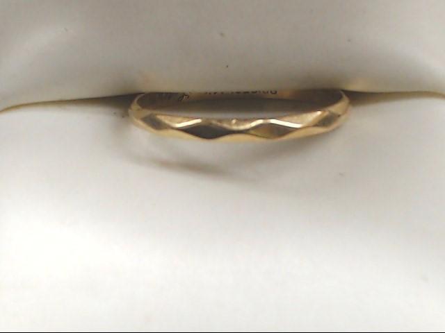 Lady's Gold Wedding Band 14K Yellow Gold 0.9g Size:7.5