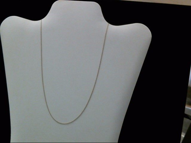 """17"""" Gold Link Chain 10K Yellow Gold 0.3g"""