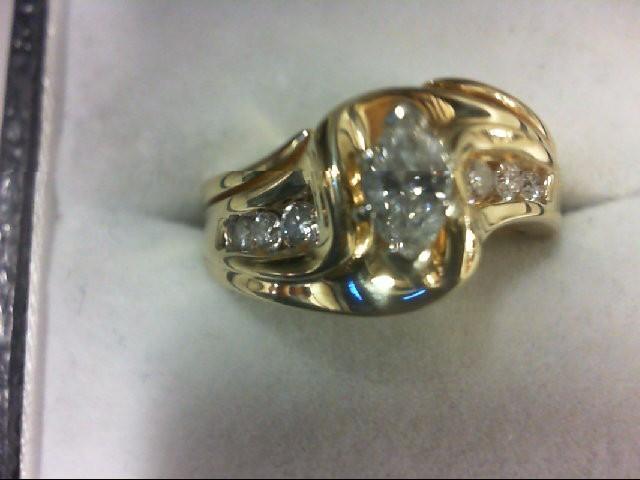 Lady's Diamond Wedding Band 7 Diamonds 0.64 Carat T.W. 14K Yellow Gold 6.6g