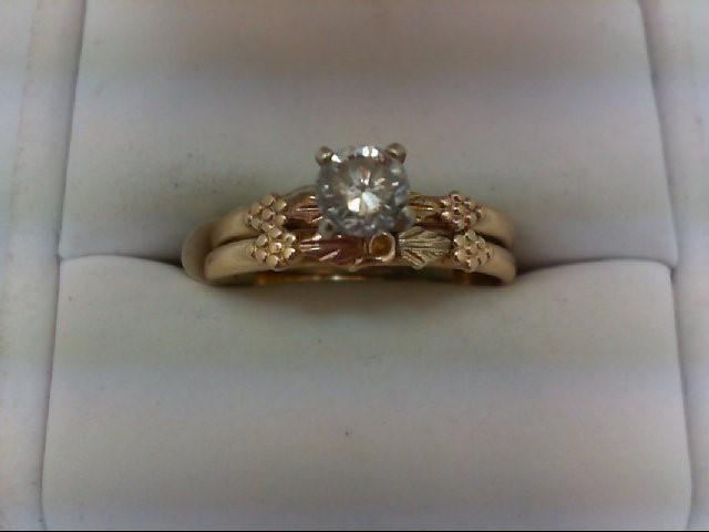Lady's Diamond Wedding Set 0.5 CT. 14K Tri-color Gold 3.9g