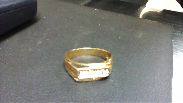 Gent's Diamond Fashion Ring 5 Diamonds .25 Carat T.W. 14K Yellow Gold 4.5g