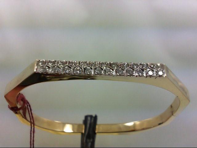 Gold-Diamond Bracelet 24 Diamonds .48 Carat T.W. 14K Yellow Gold 13.17g