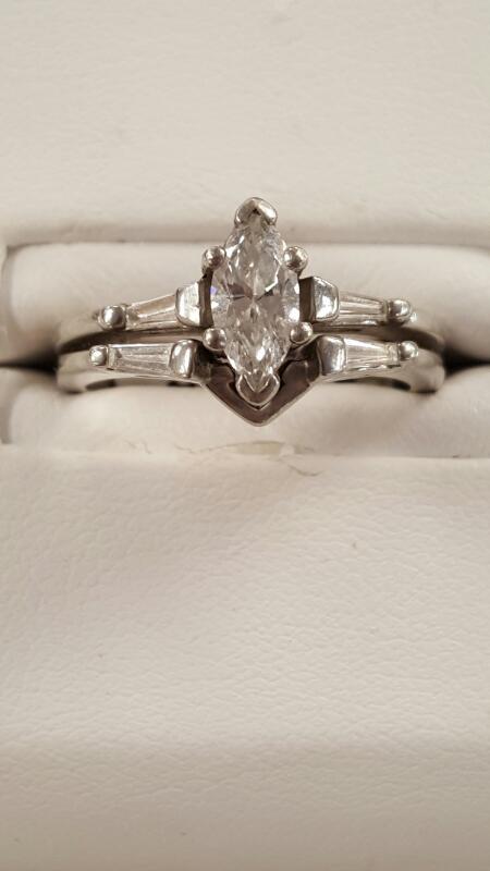 Lady's Platinum-Diamond Solitaire .61 CT. 950 Platinum 6.3dwt