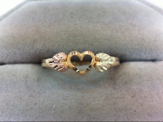 Lady's Gold Ring 10K Tri-color Gold 1.4g