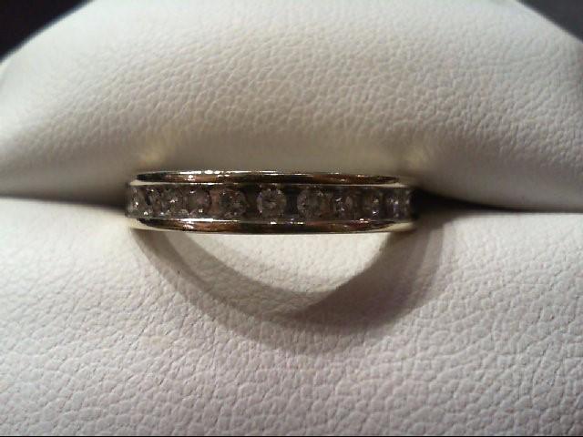 Lady's Diamond Wedding Band 11 Diamonds .25 Carat T.W. 10K White Gold 3g