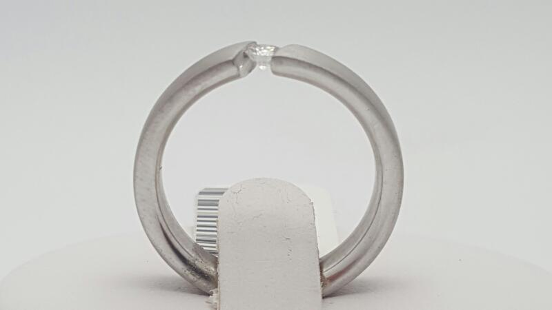 Lady's Diamond Wedding Band .11 CT. 14K White Gold 7.5g Size:7