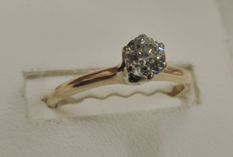 .48 DIAMOND SOLITAIRE YELLOW GOLD SIZE 7.5