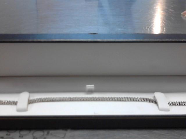 Gold-Diamond Bracelet 66 Diamonds 1.98 Carat T.W. 14K White Gold 11.4g