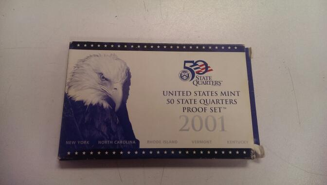 2001 50 STATE QUARTERS PROOF SET